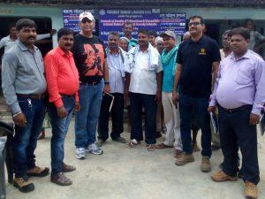Rishi Shukla, ADM, with researchers and field investigators at the ADMI Village