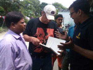 Rishi Shukla with researchers